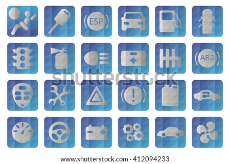 Vector auto icon. Automobile icons set - stock vector