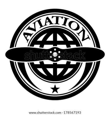 vector aviation stamp  - stock vector