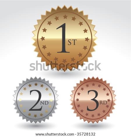 Vector award labels. - stock vector