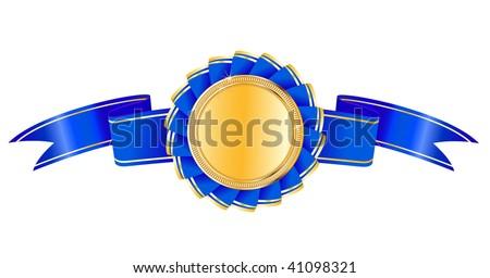 vector award medal - stock vector