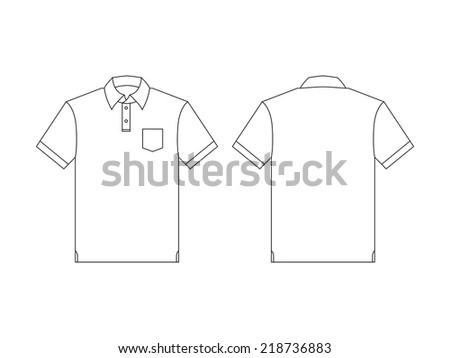 Vector back and front polo shirt for creative and design. - stock vector