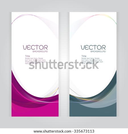 vector background Abstract header pink and gray wave whit vector design on gray - stock vector