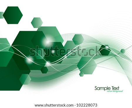 Vector Background. Abstract Illustration. - stock vector