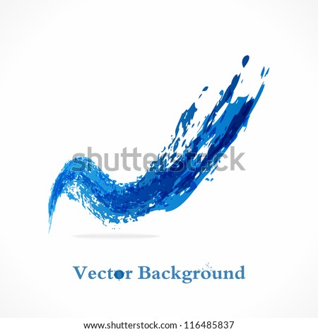 Vector Background. Abstract wave Splash. Grunge icon. - stock vector