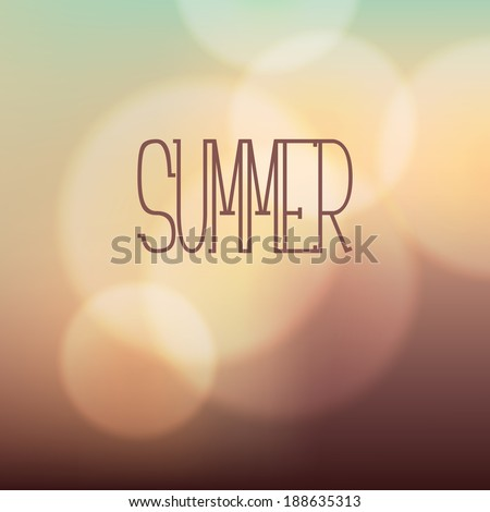 Vector background. Blurred background with soft bokeh. Warm stylish backdrop - stock vector