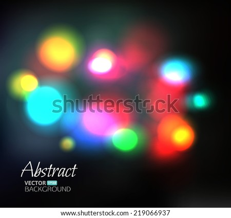 Vector background. Blurred night lights of traffic - stock vector