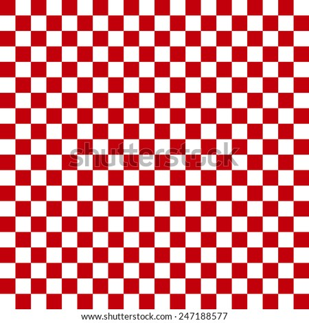 vector background, checkerboard, red - stock vector