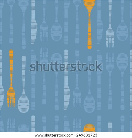 Vector background decorated with cutlery - stock vector