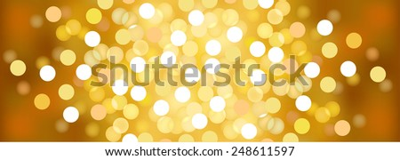 Vector background defocused festive lights, no size limit - stock vector