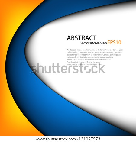 vector background dimension 3d graphic message board for text and message design line shadow for modern web design - stock vector