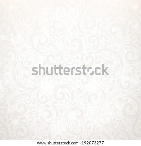 Vector Background. Floral Pattern, Wallpaper with Flowers. Vintage Silver Background. - stock vector