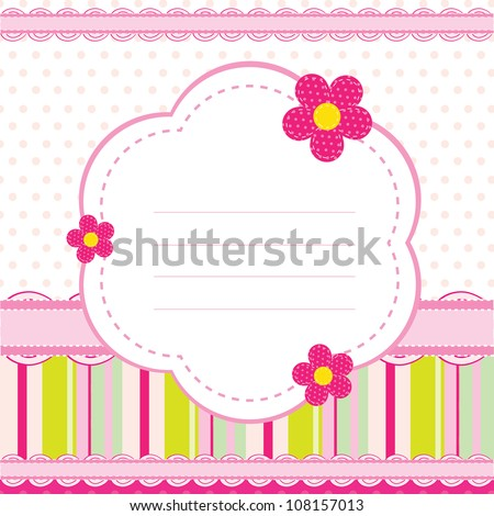 vector background for a baby girl - stock vector