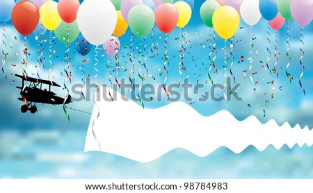 vector background for birthday or other message - stock vector