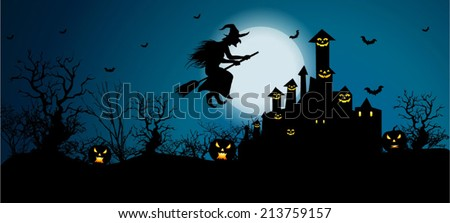 Vector Background for Halloween Celebrations. Easy to edit, Vector/ EPS 10 - stock vector