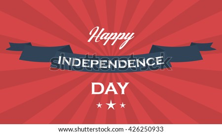 Vector background for US Independence Day. US Independence Day vector background with stars, stripes and ribbon. US Independence Day vector illustration. US Independence Day vector poster. - stock vector