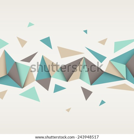 Vector background. Illustration of abstract texture with triangles. Pattern design for banner, poster, flyer, card, postcard, cover, brochure. - stock vector