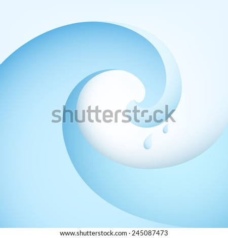 Vector background. Illustration of abstract wave with water drops. Design for banner, poster, flyer, card, postcard, cover, wallpaper, brochure. Logo design. - stock vector