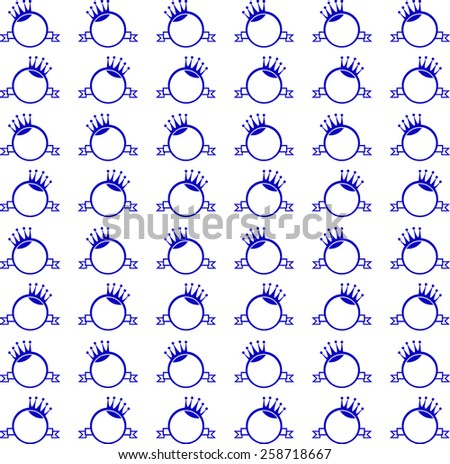 vector background monogram with crown, round, banner for packing - stock vector