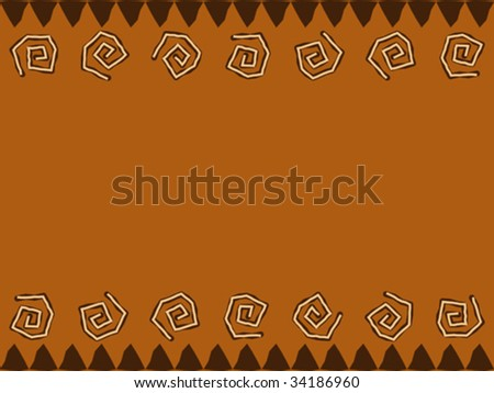 Vector background native african style design. - stock vector