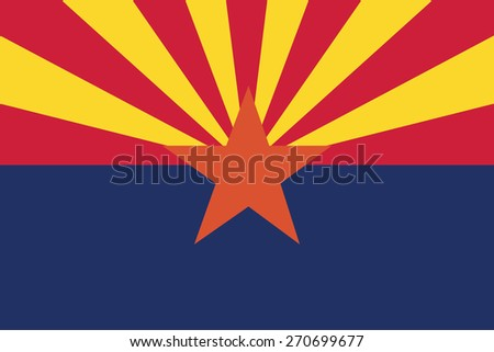 vector background of arizona state flag - stock vector