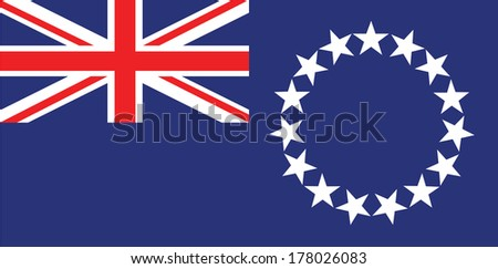 vector background of cook islands flag - stock vector