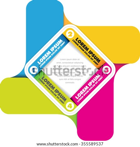 Vector background of infographic color scheme with four steps - stock vector