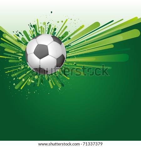 vector background of soccer sport - stock vector