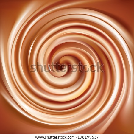 Vector background of swirling creamy caramel texture  - stock vector