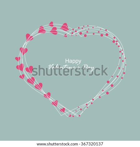 Vector background or greeting card with beautiful heart design for valentines day. - stock vector
