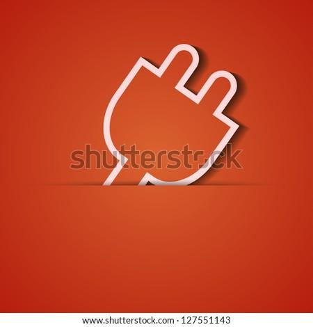 Vector background. Orange icon applique. Eps10 - stock vector