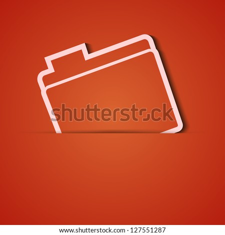 Vector background. Orange icon applique. Eps10 - stock vector