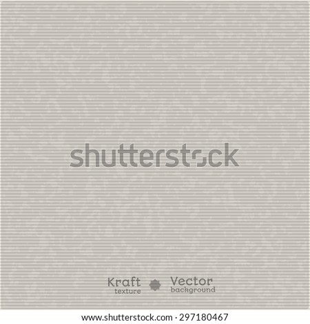 Vector background - realistic texture horizontal kraft paper in shades of gray.It can be used for package design, labels and presentation. - stock vector