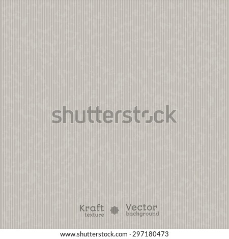 Vector background - realistic texture vertical kraft paper in shades of gray.It can be used for package design, labels and presentation - stock vector