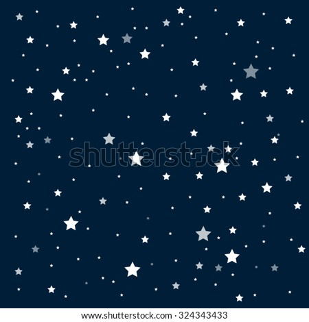 Vector background. Starry night sky. Stars, sky, night. - stock vector