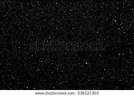Vector background. Starry night sky. Stars, sky, night. The falling snow. - stock vector