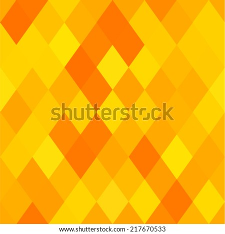 Vector background - sunny pattern with rhomboids (seamless) - stock vector