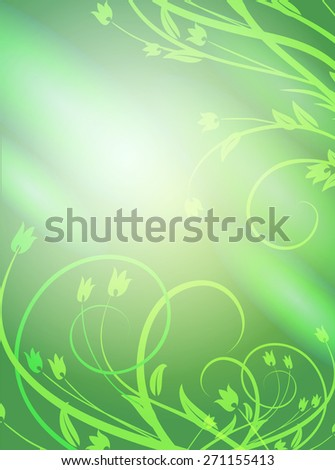 Vector background with abstract floral graphic elements. - stock vector