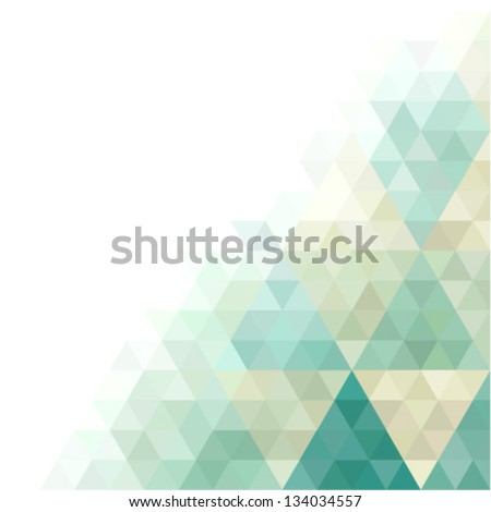 vector background with abstract geometric ornament - stock vector