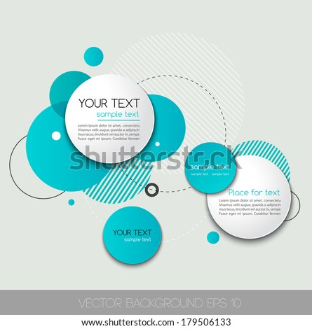 Vector background with circle shape - stock vector