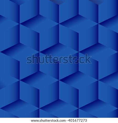 Vector background with cubes. Minimalist isometric view. Abstract geometric background blue - stock vector