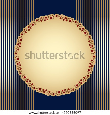 Vector background with floral pattern for greeting or invitation card. - stock vector
