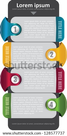 Vector background with four color steps and place for text - stock vector
