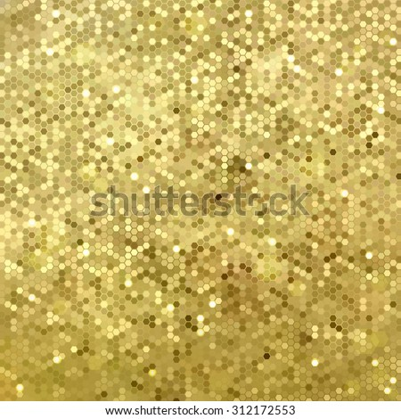 Vector background with gold sequins - stock vector