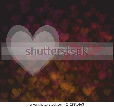 Vector background with hearts and place for text - stock vector