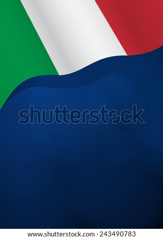 Vector background with Italy flag in vector - stock vector