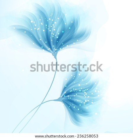 Vector background with pastel flowers - stock vector