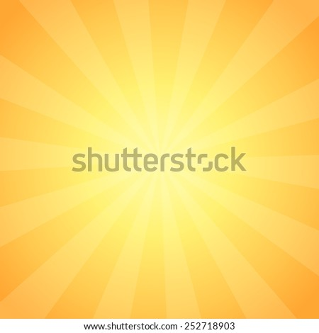Vector Background with Sun Rays in vintage style, Illustration of Sunrise shining with copy space - stock vector