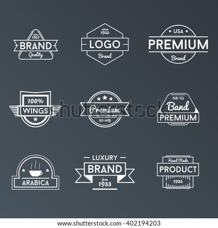 Vector Badges Logos - stock vector