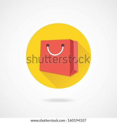 Vector Bag Icon - stock vector