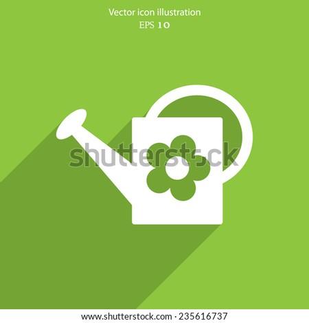 Vector bailer web flat icon. Eps 10 vector illustration. - stock vector